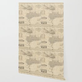 Vintage Map of Montreal (1859) Wallpaper