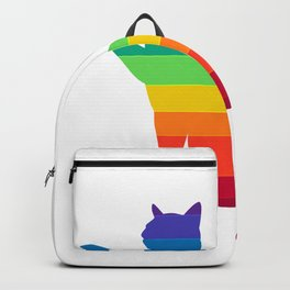 LGBT Rainbow Gay Pride Cat Backpack