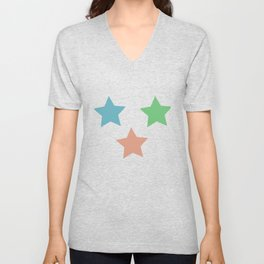 Colorful Stars Unisex V-Neck