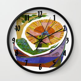Vintage Portugal Mermaid Travel Wall Clock
