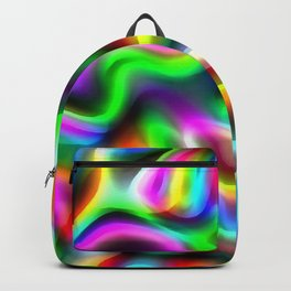 Retro 70's Blurred Psychedelic Abstract Pattern No1 Backpack
