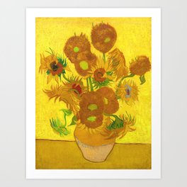 Vincent Van Gogh Fifteen Sunflowers In A Vase Art Print