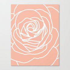 Rose Peach Rug Canvas Print