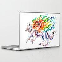 okami Laptop & iPad Skins featuring Okami Wolf by Katy Lipscomb