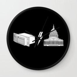 Literal AC/DC Wall Clock