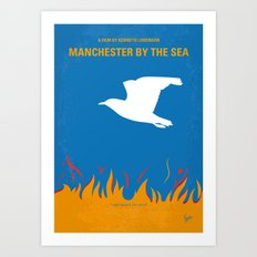 No753 My Manchester by the Sea minimal movie poster Art Print