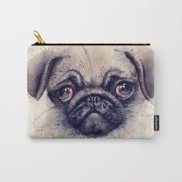 Watercolour dog Carry-All Pouch