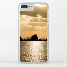 Small Islands Sunset Clear iPhone Case