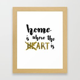 Home is where the heART is. Framed Art Print
