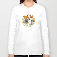 inspirational Long Sleeve T-shirts featuring Fox Friends by Teagan White