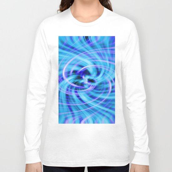 Blue twirl Long Sleeve T-shirt