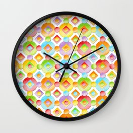 Rainbow Dots Wall Clock