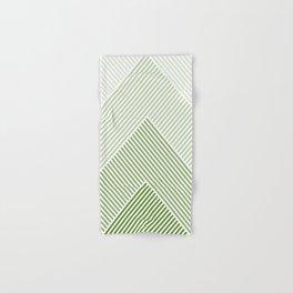 Shades of Green Abstract geometric pattern Hand & Bath Towel
