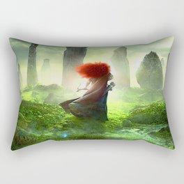 Merida The Brave - Portrait Merida Walking Rectangular Pillow
