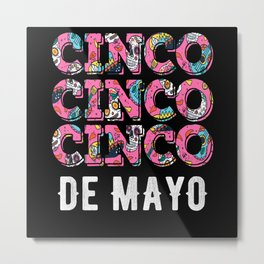 Cinco De Mayo Mexican Guitar Metal Print