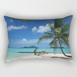 Bora Bora Palm Tree Rectangular Pillow