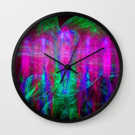 Fractal Angels IV Wall Clock