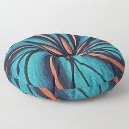 The Ocean Flower Swirl Floor Pillow