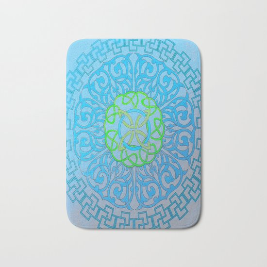 Blue Mandala Bath Mat