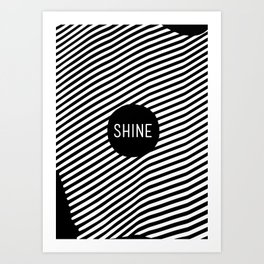 Black and White Stripes (Customizable Label) Art Print