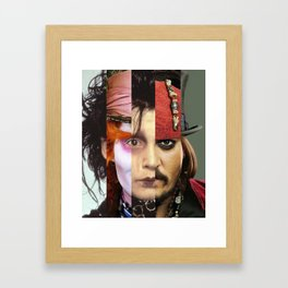 Faces Johnny Depp Framed Art Print