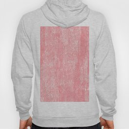 Coral white modern watercolor paint brushstrokes Hoody