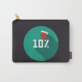 """Print illustration """"percentage - 10%"""" with long shadow in new modern flat design Carry-All Pouch"""