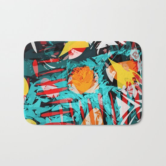 abstract colored chaos Bath Mat