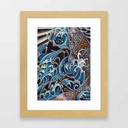 Koi by Sebastian Orth Framed Art Print