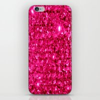 sparkle iPhone & iPod Skins featuring SparklE Hot Pink by 2sweet4words Designs