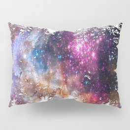 Starry Trees Forest Pillow Sham