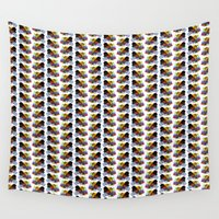 rooster Wall Tapestries featuring Rooster by DavidsSociety6