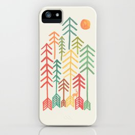 Arrow forest iPhone Case