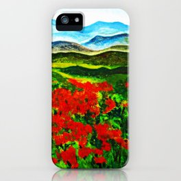 poppy field 2 iPhone Case