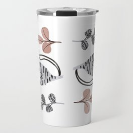 cats and flowers pattern Travel Mug