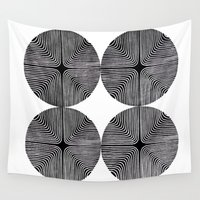 labyrinth Wall Tapestries featuring cross labyrinth by Valeria Kondor