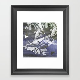 wind geometry Framed Art Print
