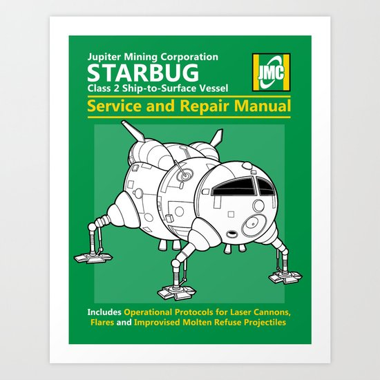 Starbug Service and Repair Manual Art Print