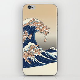 The Great Wave of Chihuahua iPhone Skin