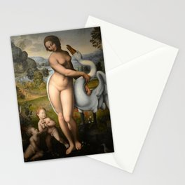 Leonardo da Vinci - Leda and the Swan Stationery Cards