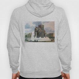 Vintage Elephant of The Bastille Illustration Hoody