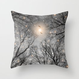 Nature Blazes Before Your Eyes 2 (Ash Embers) Throw Pillow