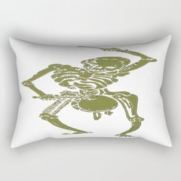A Zombie Undead Skeleton Marching and Beating A Drum Rectangular Pillow