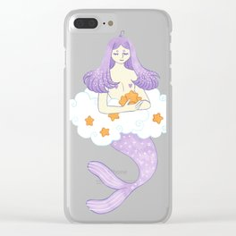 Dreaming mermaid Clear iPhone Case