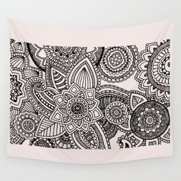 Rose Gold & Marble Zentangle Wall Tapestry