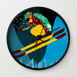 Ski Season Wall Clock