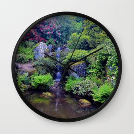 Picture Seattle USA The Kubota Washington Stream Nature Pond Gardens Creek brook Creeks Streams Wall Clock