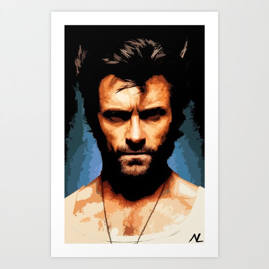 Hugh Jackman as Wolverine Art Print