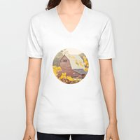 farm V-neck T-shirts featuring The Farm by Jessica Torres Photography