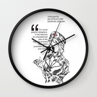medicine Wall Clocks featuring Structure's Medicine by Cat Milchard